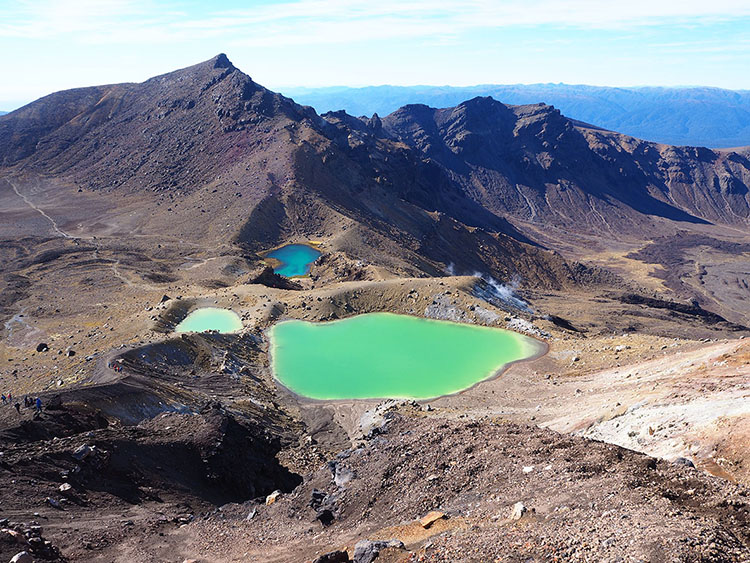 Lacs émeraude Tongariro