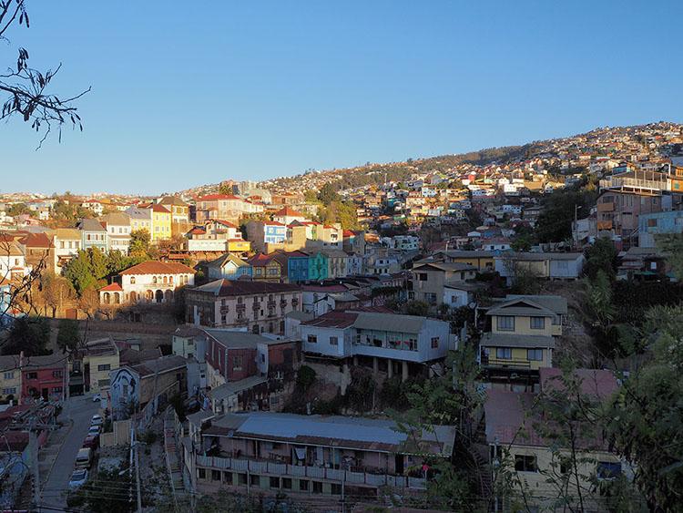 Vue sur les Cerros de Valparaiso Chili Année sympathique blog tour du monde