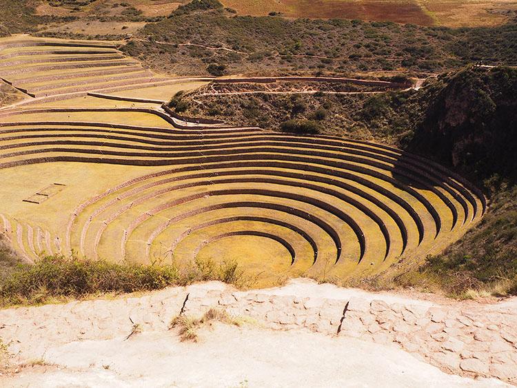 Moray laboratoire agricole des incas Pérou Année Sympathique