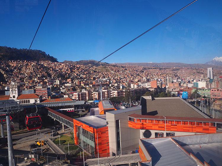 Téléphérique La Paz Bolivie Année sympathique blog tour du monde