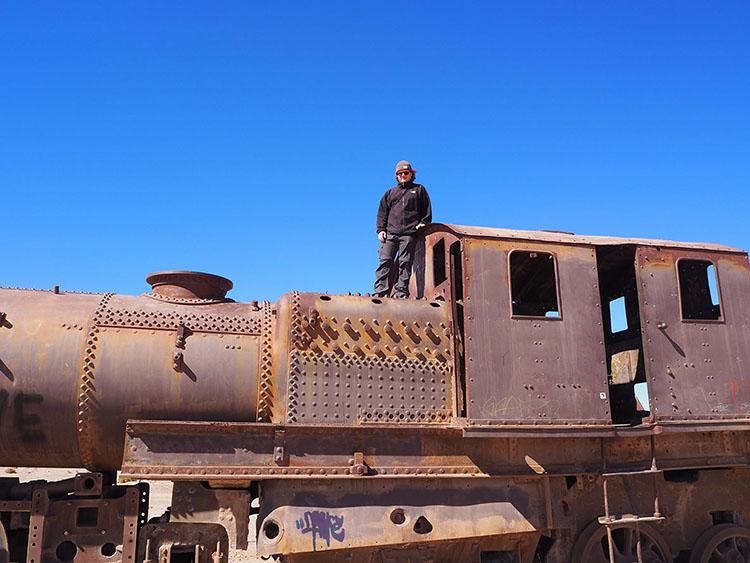 Cimetière trains Uyuni Bolivie Année sympathique blog tour du monde