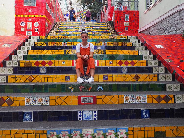 Escaliers Selaron Rio Année Sympathique Blog tour du monde