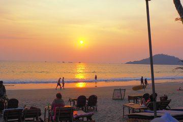 Palolem Goa coucher de soleil