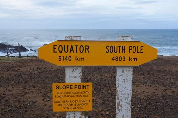 Le sud de l'île du sud Nouvelle Zélande